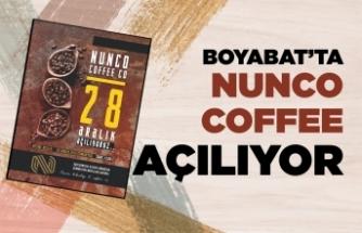 Boyabat'ta '' Nunco Coffee'' Cumartesi günü açılııyor