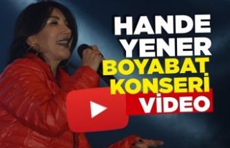 Hande Yener Boyabat Konseri Video Haber