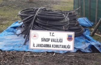 200 bin liralık enerji nakil kablosu çalan zanlılara suçüstü