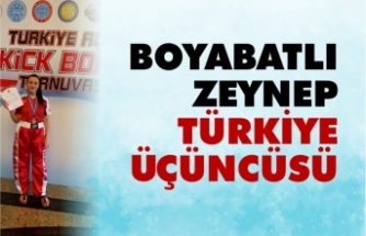 Boyabatlı Zeynep Türkiye Üçüncüsü Oldu
