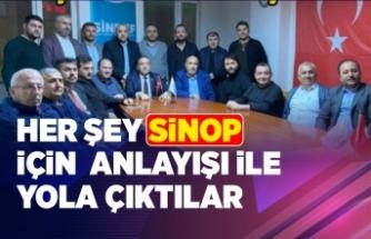 Her şey Sinop için anlayışı ile yola çıktılar