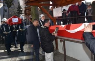 Asker Burak Kaya'nın naaşı Büyük Cami'ye getirildi