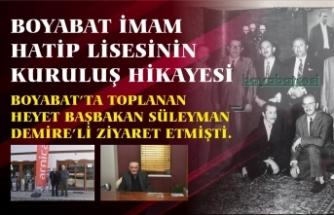 Boyabat Heyetinin İlk İmam Hatip için Süleyman Demirel'i ziyareti