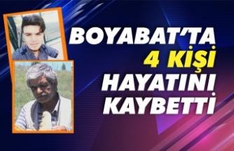 Boyabat'ta 4 kişi vefat etti