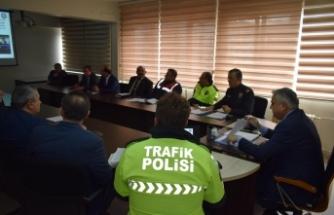 Boyabat'ta otobüs kazalarının önlenmesine yönelik toplantı