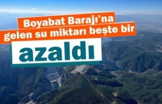 Boyabat Barajı'na gelen  su miktarı azaldı