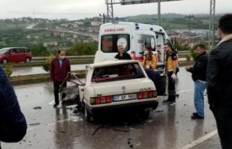 Sinop yolunda feci kaza 1 kişi öldü