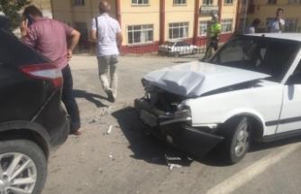 Boyabat İtfaiyesi önünde trafik kazası !