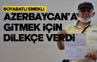 Boyabatlı memur Azerbaycan'a gönüllü gitmek için dilekçe verdi