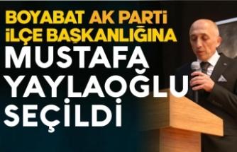 Boyabat Ak Parti İlçe Başkanlığına Mustafa Yaylaoğlu seçildi