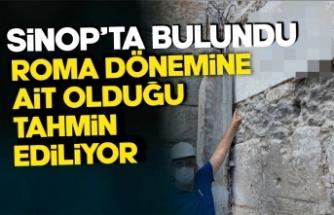 Sinop  Tarihi Cezaevi'nde bulundu