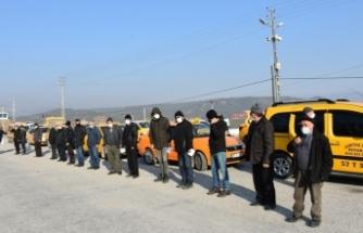 Boyabat'taTicari taksi ve servis minibüsleri dezenfekte edildi