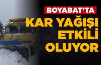 Boyabat'ta 9 köy yolu ulaşıma kapandı !