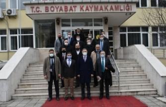 Yeniden Refah Partisi Genel Başkan Yardımcısı Mehmet Altınöz'ün Boyabat ziyareti.
