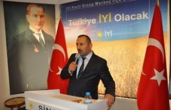 İl Başkanı Şanlan'' Sayın Çakıcı'nın üslubu Sinop kamuoyunu şaşırtmış ve üzmüştür''