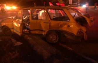 Boyabat Bektaş Köyü mevkiinde kaza !