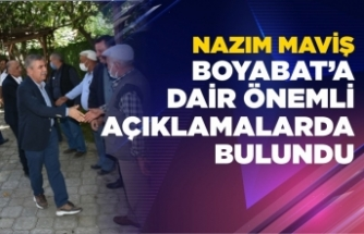Nazım Maviş'tenBoyabat'a 3 yeni proje müjdesi