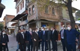 Sinop Valisi Erol Karaömeroğlu'nun Boyabat ziyareti