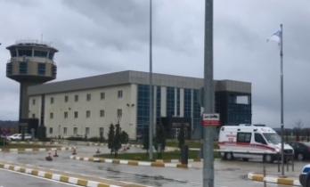 Sinop Havaalanında korkutan patlama sesi