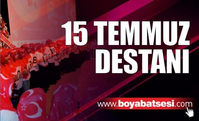 """Boyabat'ta """"15 Temmuz Destanı"""" gecesi düzenlendi"""