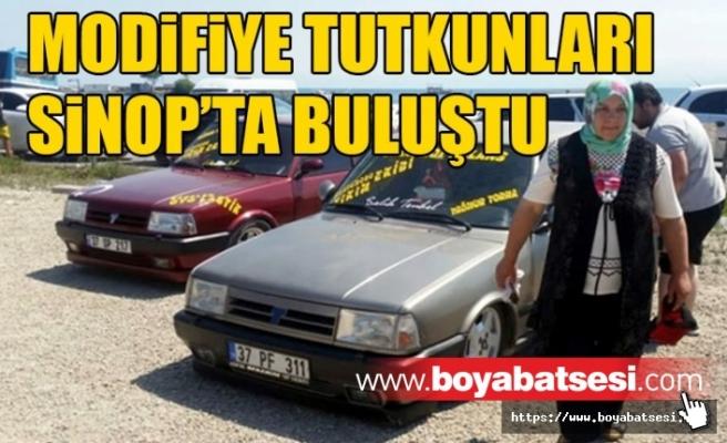 Modifiye araç sevdalıları Sinop'ta  Buluştu