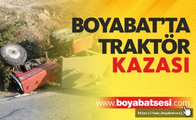 Boyabat'ta Traktör Kazası