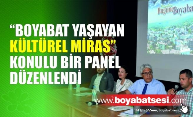 """""""Boyabat Yaşayan Kültürel Miras"""" konulu bir panel düzenlendi"""