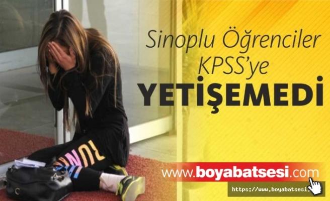 Sinoplu Öğrenciler KPSS'ye giremedi