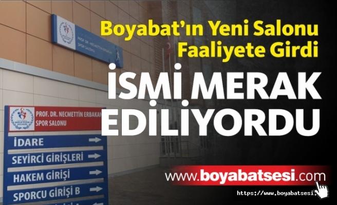 Boyabat'ın Yeni Salonu Tamamlandı, İsmi Belli Oldu