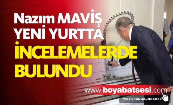 Milletvekili Maviş, KYK yurdu inşaatında incelemede bulundu