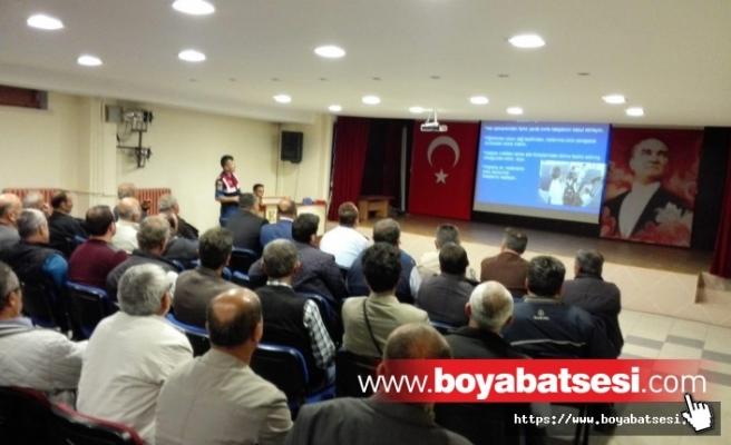 BOYABAT'TA SERVİS ŞOFÖRLERİ BİLGİLENDİRİLDİ