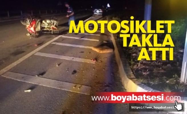 Motosiklet Takla Attı, 2 Yaralı