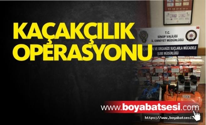 Sinop'ta Sigara Kaçakçılığı Operasyonu