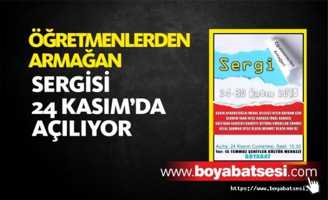 Boyabat'ta ''Öğretmenlerden Armağan'' Sergisi Açılıyor