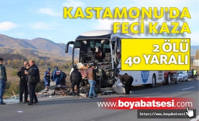 Kastamonu'da Feci Kaza Yolcuları Taşıyan Otobüs Tıra Çarptı
