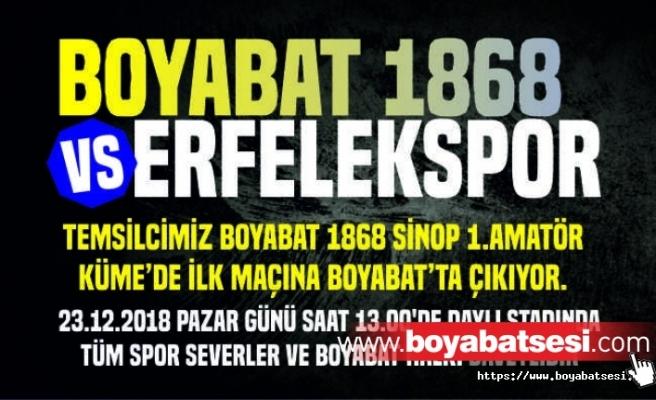 Boyabat 1868 ilk resmi maçına Boyabat'ta çıkıyor.