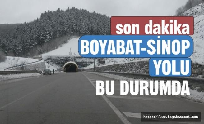 Boyabat-Sinop Yolundan Anlık Görüntüler