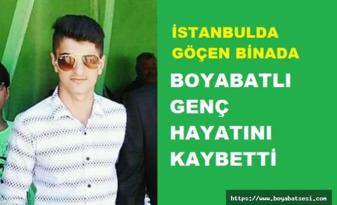 Boyabatlı 18 Yaşındaki Emirhan Tunç, Göçen Binada Hayatını Kaybetti.