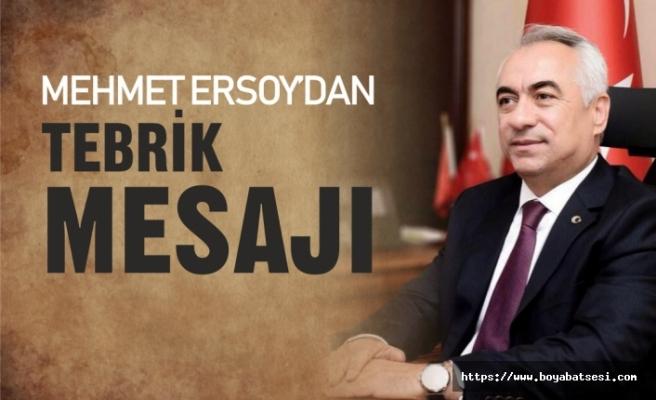 Mehmet Ersoy'dan Tebrik Mesajı