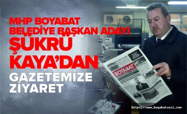 MHP Boyabat Belediye Başkanı Adayı Kaya'dan Gazetemize Ziyaret