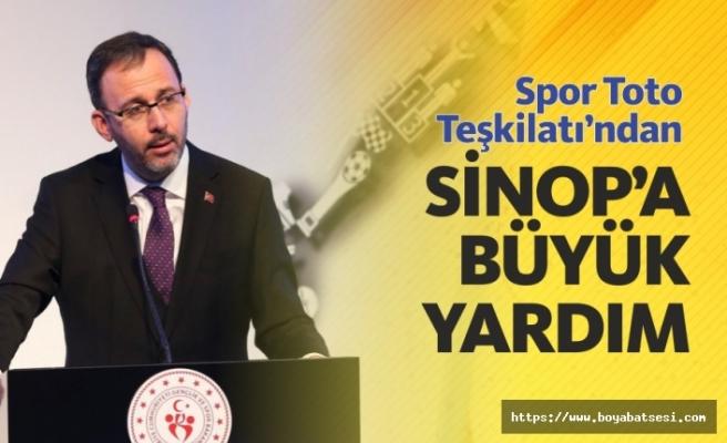Spor Toto Teşkilatından Sinop'a Büyük Yardım