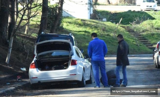Araçların lastiklerini kestiği iddia edilen zanlı yakalandı