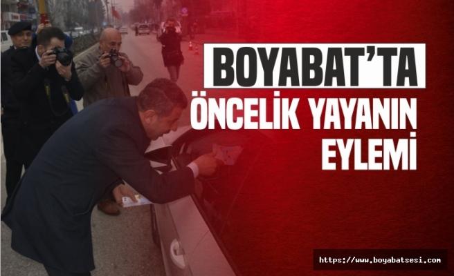 Boyabat'ta ''Öncelik Yaşamın Öncelik Yayanın'' Eylemi