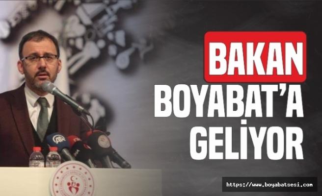 Gençlik ve Spor Bakanı Boyabat'a Geliyor