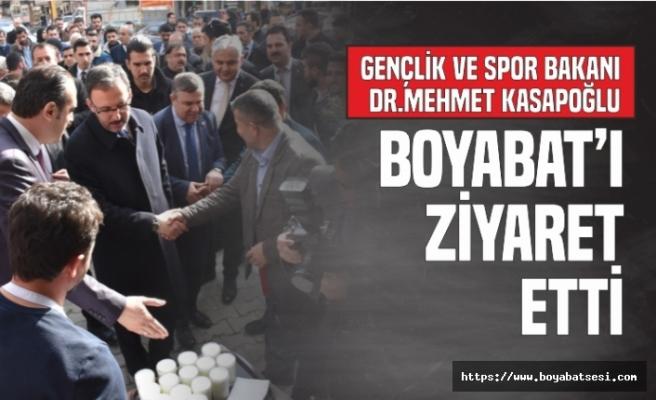 Gençlik ve Spor Bakanı Dr.Mehmet Kasapoğlu Boyabat'ı Ziyaret Etti