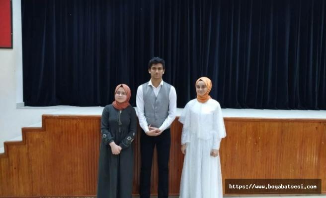 Sinop'ta Düzenlenen Yarışmaya Katılacak Öğrenci Belli Oldu