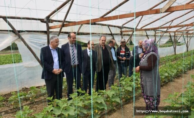 Kaymakam Aksoy, Yerli Sebze Üreticisi Topaçları Ziyaret Etti,
