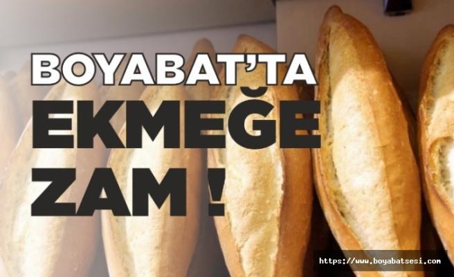 Boyabat'da ekmeğe zam geldi.