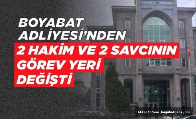 HSK'dan yeni kararname! Boyabat'tan 2 Hakim 2 Savcının yeri değişti