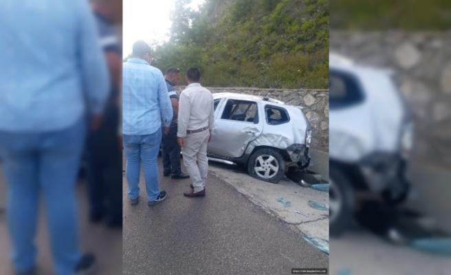 Sinop Yolunda Trafik Kazası Yaralılar Var